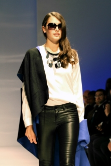On the Runway - Leather, Necklace, Shawl